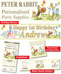Personalised Peter Rabbit Birthday Party Banner Decorations