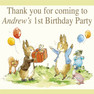 Personalised Peter Rabbit Birthday Party loot bag stickers