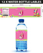 Personalised Strawberry Shortcake Birthday Party Water bottle labels