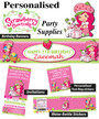 Personalised Strawberry Shortcake Birthday Party Banner Decorations