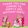 Personalised Strawberry Shortcake Birthday Party toot loot bag stickers