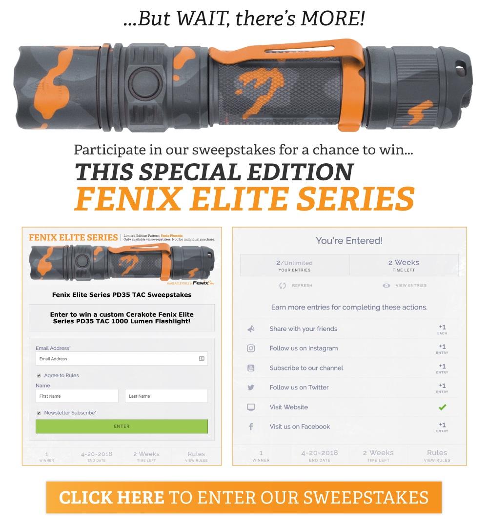 Fenix LED Tactical Flashlights - PD35 TAC Specials Edition