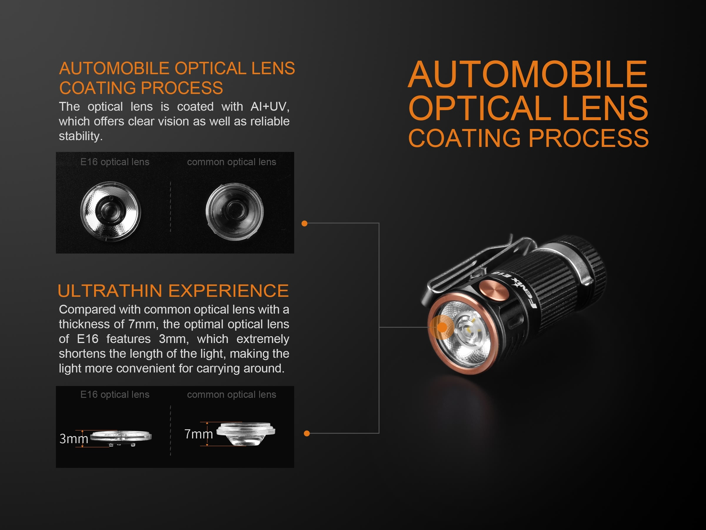 Fenix E16 LED Flashlight
