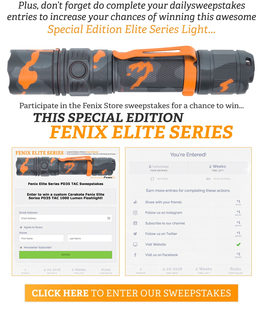 Fenix Elite Series Light Giveaway