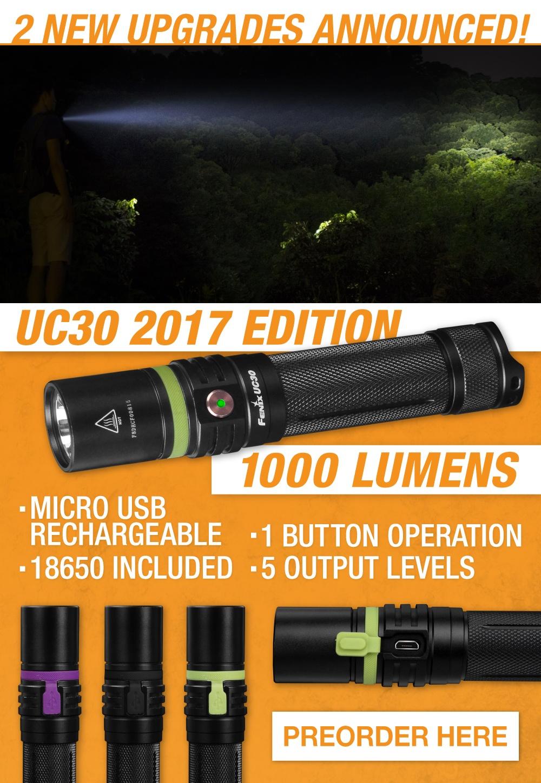 Fenix UC30 LED Rechargeable Flashlight 2017 Edition