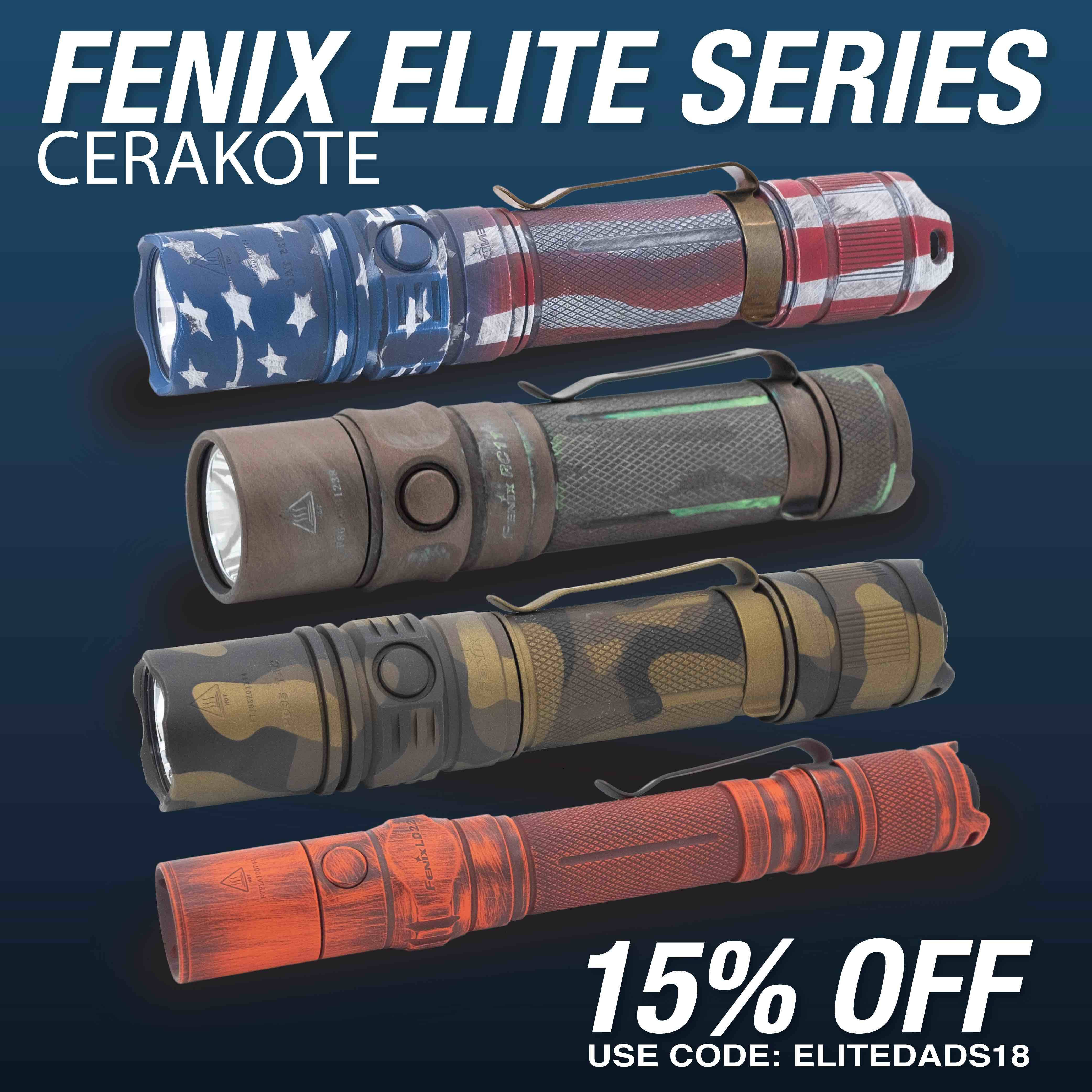 Fenix Flashlights Elite Series Cerakote Finish