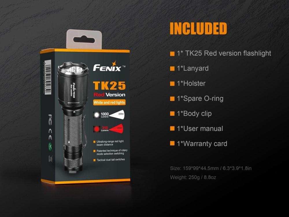Fenix TK25 Red Version LED Hunting Flashlight