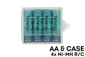 AA Tenergy Ni-MH Rechargeable Batteries (4-pk. in case)