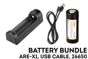 Fenix ARE-X1 Charger and 26650 Battery