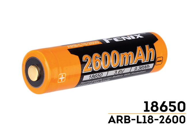 Fenix Arbl18 High Capacity 18650 Battery 2600mah Fenix
