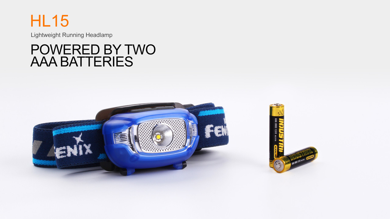 Fenix HL15 LED Headlamp AAA Batteries