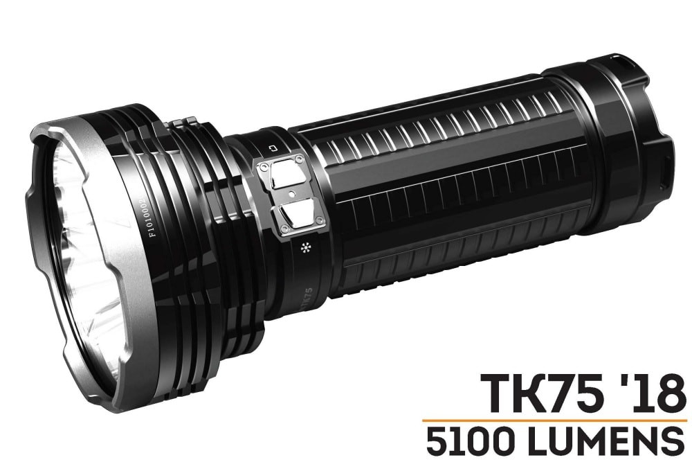 Fenix TK75 has been upgraded to the LR50R 12000 lumen searchlight!