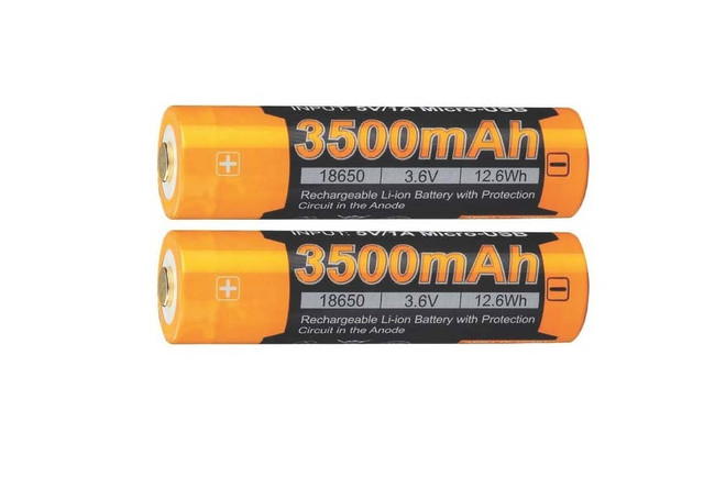 Fenix ARB-L18-3500 High-Capacity 18650 Battery - 2-Pack clear