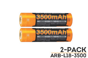 Fenix ARB-L18-3500 High-Capacity 18650 Battery - 2-Pack