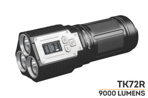 Fenix TK72R Rechargeable LED Flashlight -- 9000 Lumens