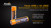 Fenix ARB-L18-2900 High-Capacity 18650 Battery - 2-Pack overview