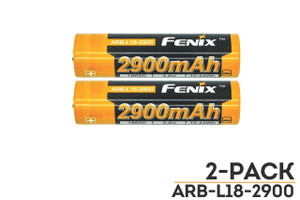 Fenix ARB-L18-2900 High-Capacity 18650 Battery - 2-Pack