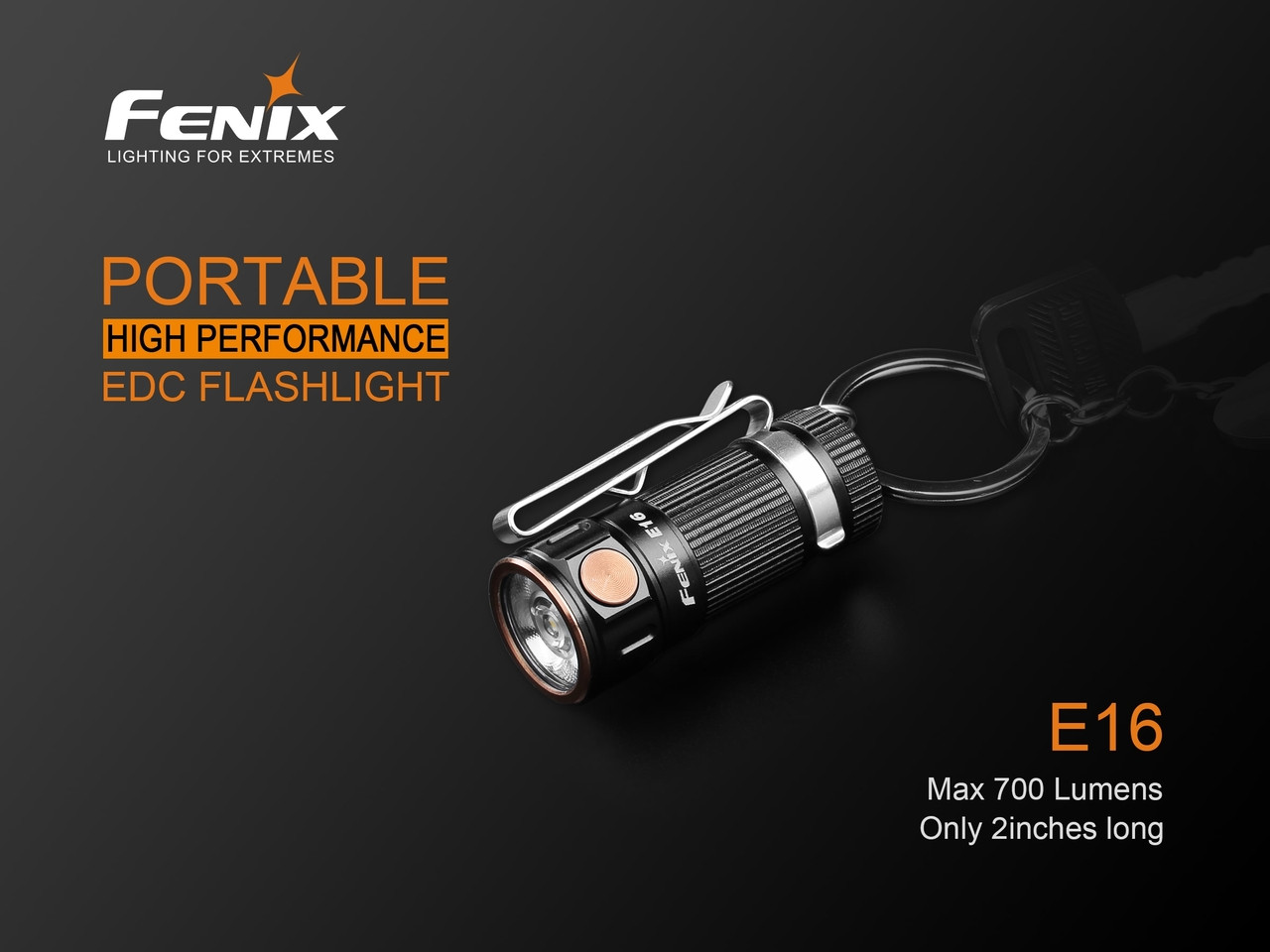 New Fenix E16 High Performance Compact Led Flashlight Diagram Torch 2