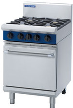 Blue Seal G504D 4 Burner Gas Cook Top Gas Static Oven Range - 600mm wide
