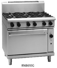 Waldorf 800 Series RN8610G 6 Burner Gas Cook Top Static Oven Range