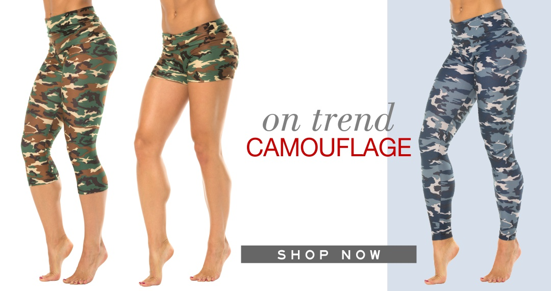 Rogiani Camouflage Leggings, Shorts, and Tops