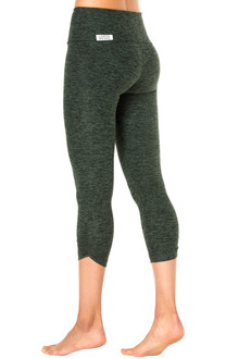 High Waist Side Gather 3/4 Leggings - Butter