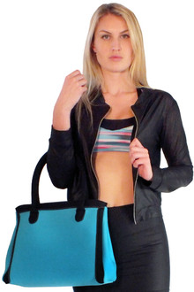 Blue Neoprene Handbag - FINAL SALE