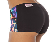 """Drum Shorts - Dual - REBEL ON BLACK - FINAL SALE - SMALL - 2"""" INSEAM (1 AVAILABLE)"""