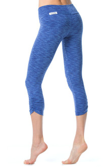 Tone Sport Band Side Gather 3/4 Leggings - Tight