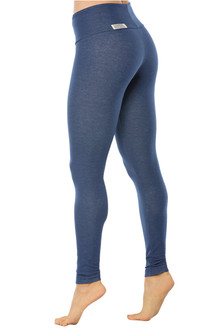 Denim Look Cotton High Waist Band Leggings - FINAL SALE - MEDIUM (1 AVAILABLE)