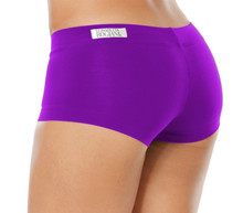 "Lowrise Mini Shorts - AMETHYST - FINAL SALE - XSMALL - INSEAM 3"" - SIDES 7""  (1 AVAILABLE)"