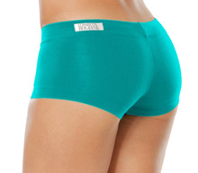 "Lowrise Mini Shorts - TEAL - FINAL SALE - XSMALL - INSEAM 3"" - SIDES 7"""