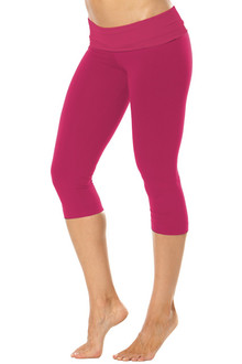Rolldown 3/4 Leggings - FINAL SALE- BERRY ON BERRY - SMALL (1 AVAILABLE)