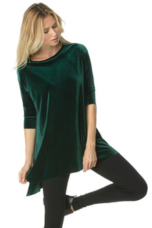 Stretch Velvet T-Shirt