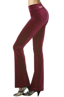 Stretch Velvet Mini Band Bootcut Pants