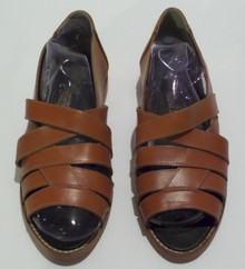 Fashion Show Shoes - FINAL SALE - MARC ALPERT COLLECTION BY MARIA PIA STRAPPY LEATHER SANDALS - SIZE 7 (1 AVAILABLE)