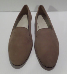 Fashion Show Shoes - FINAL SALE - ANN TAYLOR DESIGN STUDIO CAMEL SUEDE SLIP ON LOAFERS - SIZE 10 (1 AVAILABLE)