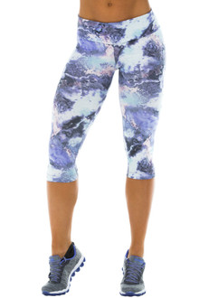 Sport Band 3/4 Leggings - Brushed Print