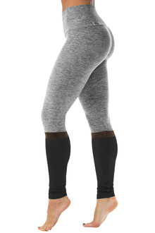 High Waist Elevate Leggings - Mesh Accent ON Butter/Supplex