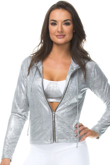 Metallic Jacket w/ Hood