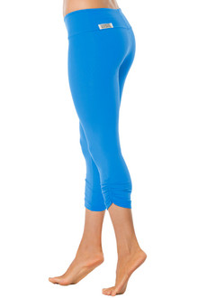 Sport Band Side Gather 3/4 Leggings - MARLIN - FINAL SALE