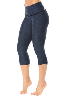 High Waist Halo Side Gather 3/4 Leggings - Butter