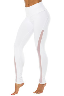High Waist Solstice Leggings - Mesh Accent on Supplex