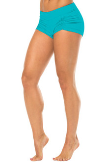 Kala Gather Front Mini Band Shorts