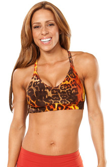 Racer Doll Bra- FINAL SALE - TIGER RUST - LARGE (1 AVAILABLE)