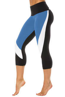 High Waist 3/4 Chrome Leggings - Supplex