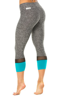 Sport Band Toto 3/4 Leggings - Mesh & Supplex Accent on Butter