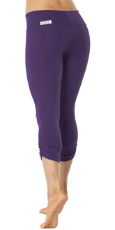 SPORT BAND SIDE GATHER 3/4 LEGGINGS - NAVY - FINAL SALE
