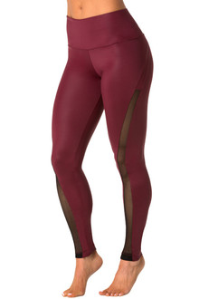High Waist Solstice Leggings - Mesh Accent on Wet
