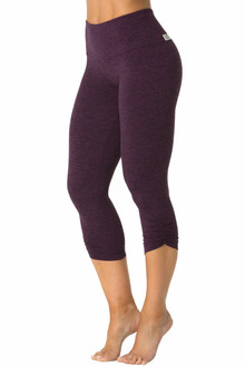 Double Butter High Waist Side Gather 3/4 Leggings